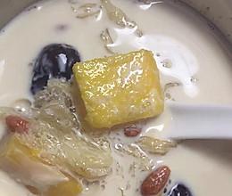 木瓜牛奶炖燕饼的做法