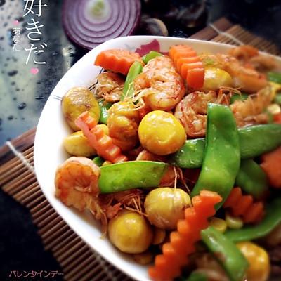 家常菜—什锦栗子虾仁