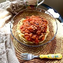 必胜客肉酱面家庭版~意大利肉酱面#餐桌上的春日限定#