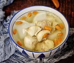 养生汤—白萝卜枸杞炖羊肉的做法