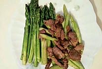 鲜芦笋炒肉的做法