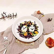 万圣节幽灵蔬菜沙拉