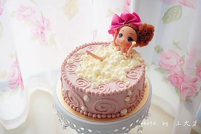 泡泡浴娃娃蛋糕#长帝烘焙节#