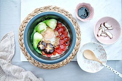 经典美食在家做—广式腊肠煲仔饭