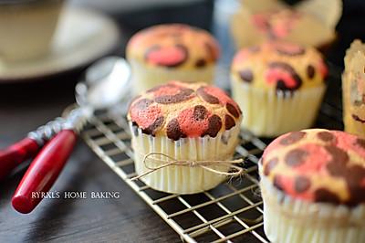 之一—— 豹纹杯子蛋糕#美的智烤大师烤箱#