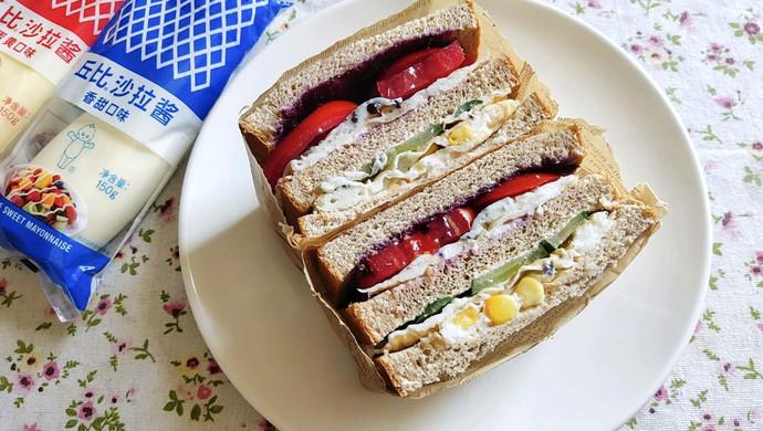 田园早餐三明治