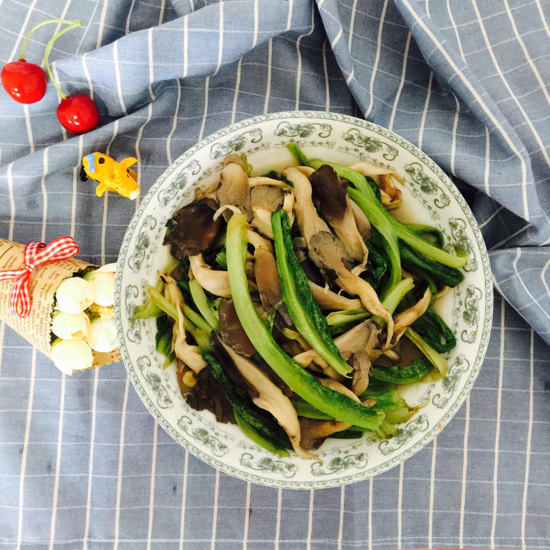 蘑菇的做法大全_油麦菜炒蘑菇的做法_【图解】油麦菜炒蘑菇怎么做如何做好吃 ...