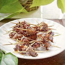 #一人一道拿手菜#猪肉牙签牛肉,用一个烤箱就可以办到