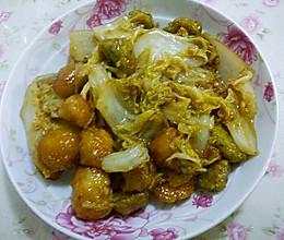 白菜烩丸子的做法