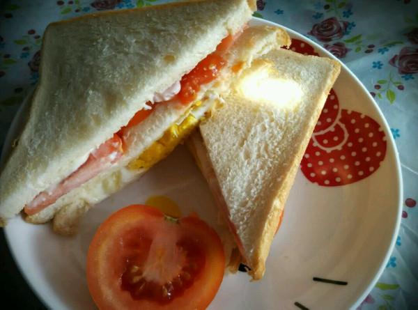 三明治  十分钟 快捷早餐的做法