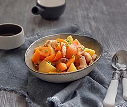 五花肉炖土豆胡萝卜的做法