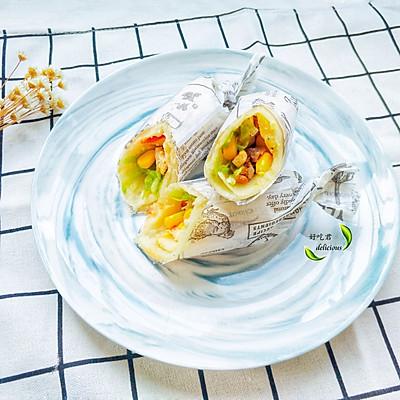 鸡肉蔬菜卷饼