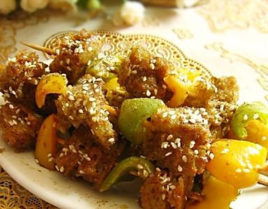 彩椒烤面筋的做法