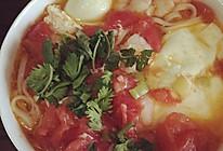 西红柿虾仁鸡蛋面的做法