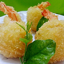 李孃孃爱厨房之一一洋芋凤尾虾球