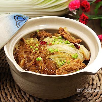 [白菜肉渣炖粉条]—冬天里最温暖、最贴膘的一道菜