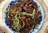 芹菜炒孜然牛肉丝的做法
