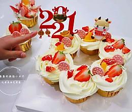 """#安佳一口""""新""""年味#新年花环纸杯蛋糕的做法"""