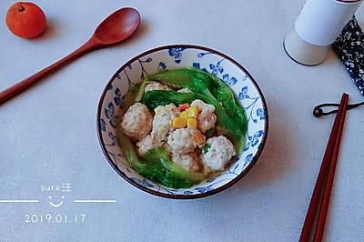 白莲菜鸡粉粉丸