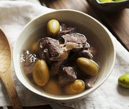 滋阴养肺的青橄榄猪肺汤的做法