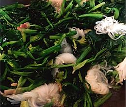 蒜蓉鱼露菠菜的做法