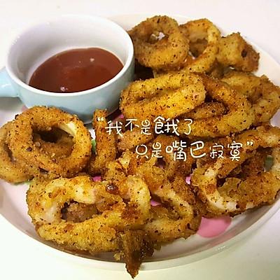 泰小妍の香酥鱿鱼圈(自制面包糠)