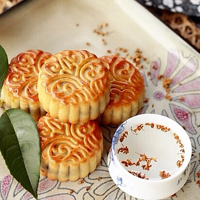 奶香椰蓉月饼~椰香浓郁,超级诱人