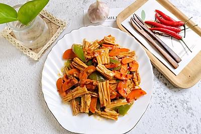 时蔬炒腐竹,比肉还香!