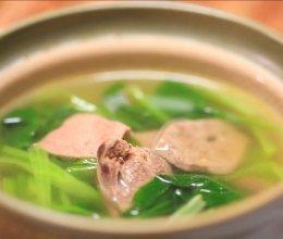 青菜猪肝汤的做法