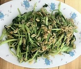 青菜炒虾皮的做法