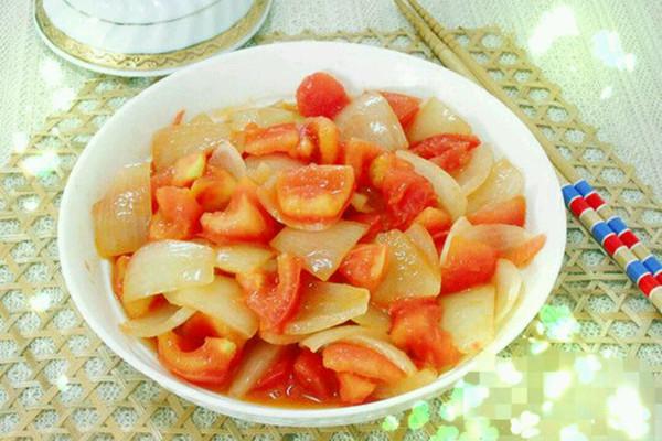 西红柿洋葱的做法