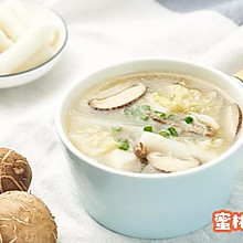 白菜肉丝年糕汤