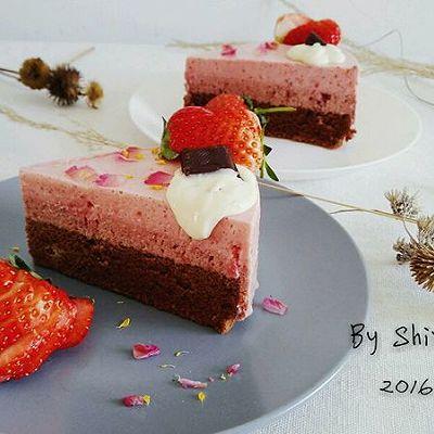 櫻桃草莓慕斯
