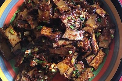 辣椒粉炒卤豆腐