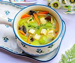 #秋天怎么吃#丝瓜豆腐木耳汤的做法
