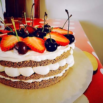 生日蛋糕这样做好简单~裸蛋糕初级教程