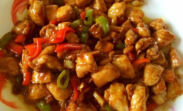 豆瓣酱辣炒鸡胸肉