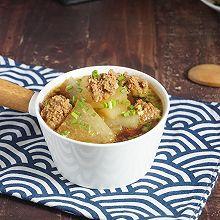有妈妈味道的冬瓜羊肉丸子汤,暖乎乎的超好喝,简单快手家常菜
