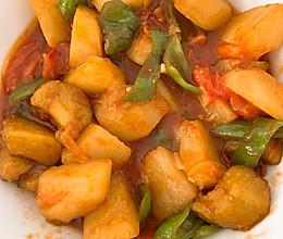 番茄烧茄子土豆的做法