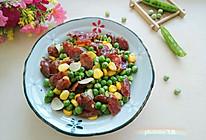 小炒豌豆腊肠的做法