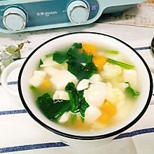 低脂低卡减肥餐,菠菜豆腐汤,清淡好喝!