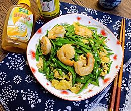 #太太乐鲜鸡汁芝麻香油#虾仁炒荷兰豆丝的做法