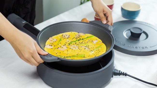 芦笋虾仁早餐蛋饼【moido西厨机版】的做法