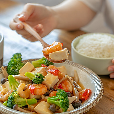 三鲜豆腐|鲜香开胃
