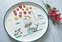#精品菜谱挑战赛#绘本餐盘画《鸭婶芭芭探望病人》的做法