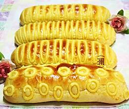 任性花纹任性挤:毛毛虫面包(花式甜面包)的做法