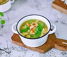 #餐桌上的春日限定#胡萝卜虾皮丝瓜蛋汤的做法