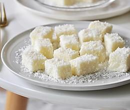 【视频】85度c 椰蓉牛奶小方~不用烤箱的夏日甜点的做法