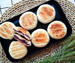 #中秋团圆食味#电饼铛简版酥皮紫薯饼的做法