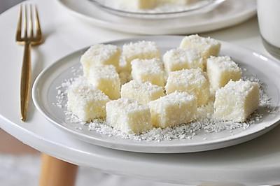 【视频】85度c 椰蓉牛奶小方~不用烤箱的夏日甜点